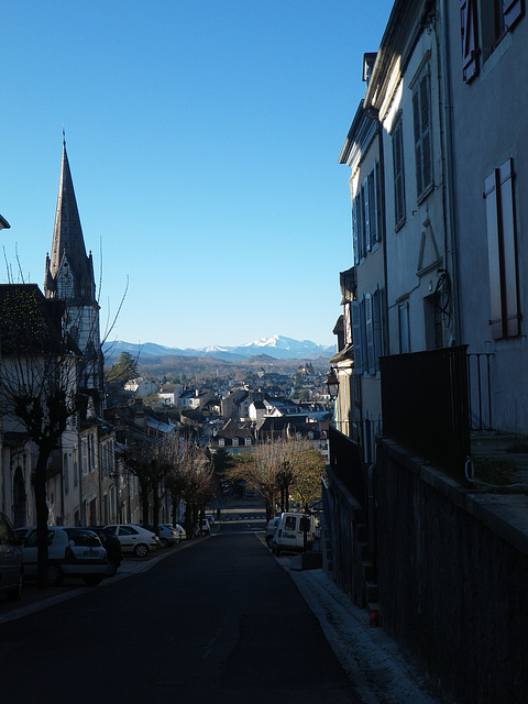 Descente vers Oloron Sainte-Marie.