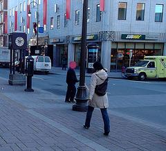 La Dame Subway en talons hauts / Subway Lady in high heels -1er décembre 2011 / Recadrage