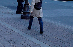 La Dame Subway en talons hauts / Subway Lady in high heels - 1er décembre 2011 / Recadrage