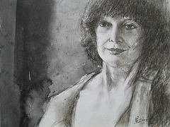 un Dessin Exercice de Christel= Desegna Ekzerco_pastel pencil +  chinese ink_20x25cm_2012_HO Song