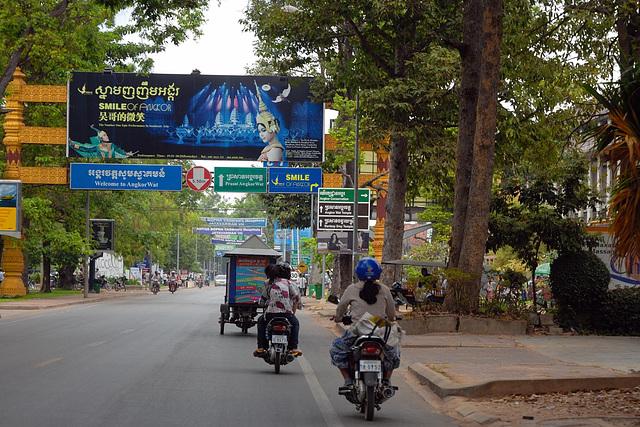Charles de Gaulle Road in Siem Reap
