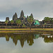 The famous view of Angkor Wat