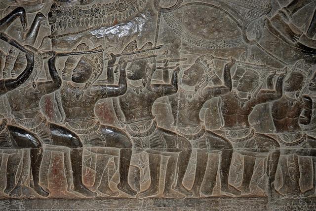 Angkor Wat Bas-Reliefs army of Suryavarman II