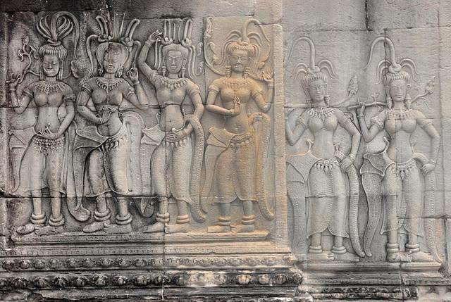 Apsaras in Angkor Wat