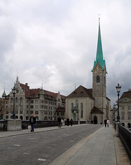 Zurigo la chiesa di Fraumünster