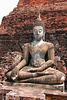 Antique Buddha statue in Sukhothai park