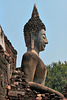 Historic Buddha statue in Sukhothai
