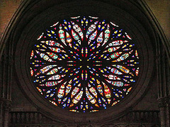 PICT16510bc Amiens Cathedral Notre Dame West Facade Rose 16th