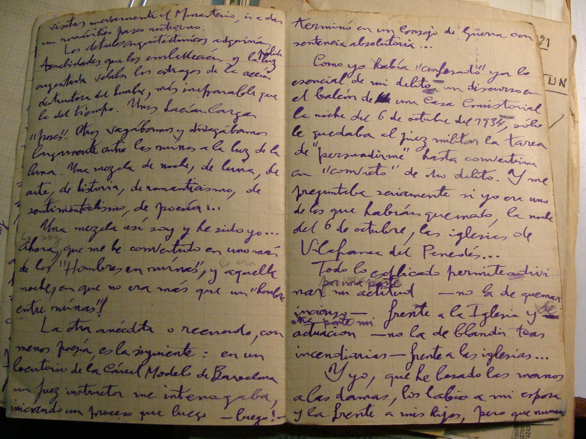 tagĵurnalero de Jaume Grau Casas pri la 6a de oktobro 1934a