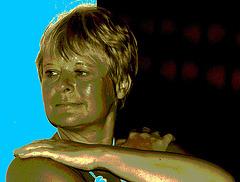 Dame Annick / Lady Annick -  13 septembre 2008 / Sepia postérisé