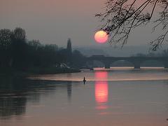 Sonnenuntergang bei Pirna am 22-3-2012
