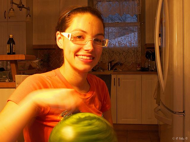 Le melon-toupie