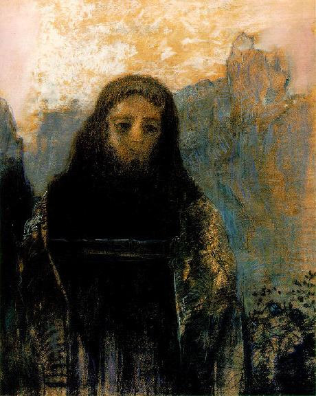 The painting is 'Parsifal' by Odilon Redon (1912) and it's in the Musee D'Orsay, Paris.