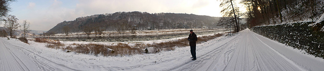 Spaziergang an der Elbe bei -5°C