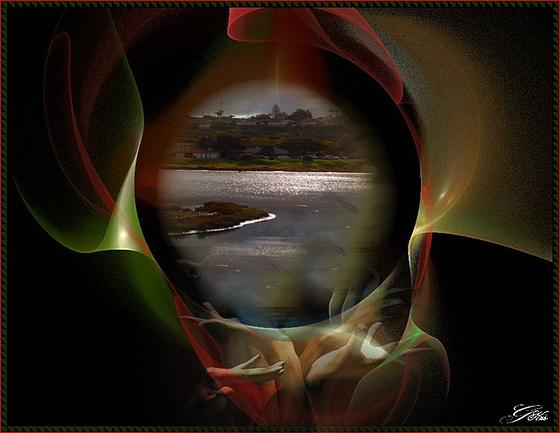 Une île ...........Comme une cible d'or ..............Tranquille