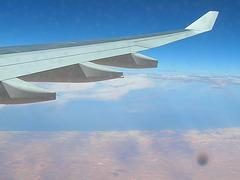 Sahara côté atlantique, vue du ciel