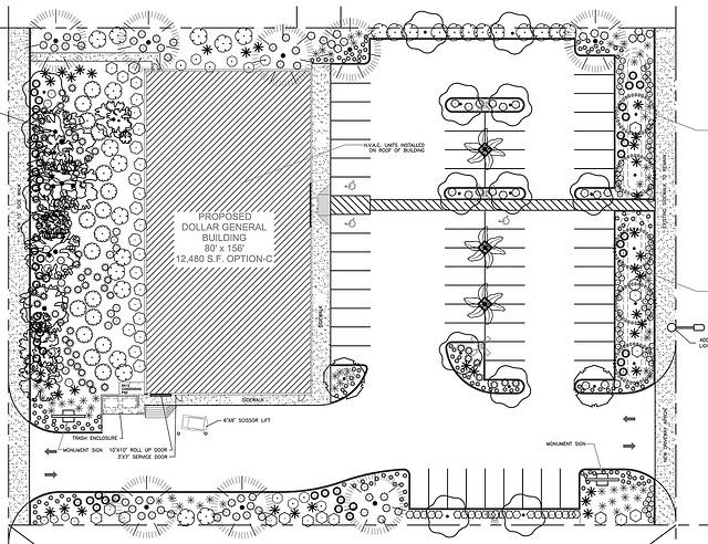 Dollar General Landscape Plan selection