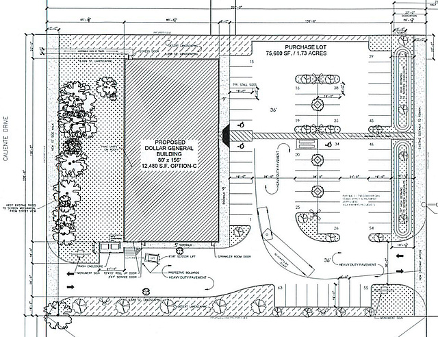 Dollar General Site Plan selection