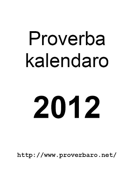 Proverba kalendaro 2012