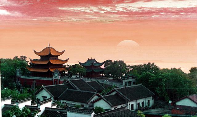 Panoramo de la Pavilono Yueyang