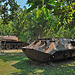 Rusty Russian tanks as exhibits