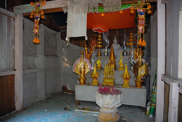 Holy meditation altar beside the spring