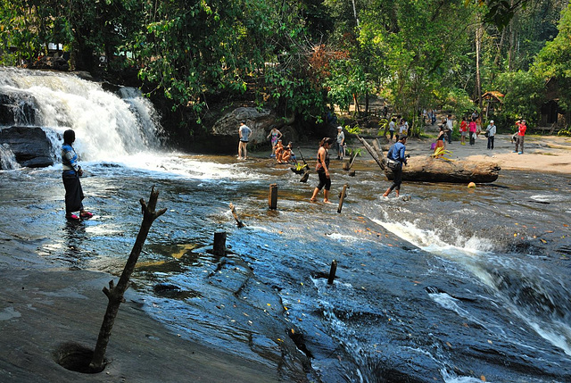 First waterfall of Siem Reap River