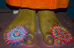 At the Buddha's feet