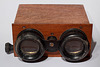 Visionneuse pour plaques stéréo avec mise au point. Stereoscope