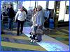 Dame blonde du bel âge en bottes de Dominatrice avec son toutou - Blonde mature in Dominatrix Boots with her dog- 19-10-2008 -  Aéroport de Bruxelles - Postérisation