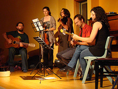House concert of rebetiko in New Zealand after the workshop