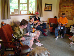Rebetiko Workshop in New Zealand / the students