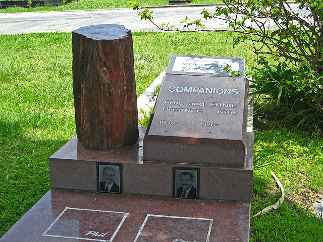 Phil Prentice & Ernie Tate gravesite - May 2011 (1855)