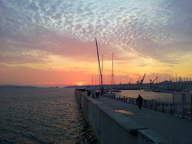 sunset port de plaisance, brest