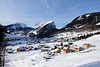 Blick auf Au (note) - Winterwanderung im Bregenzer Wald