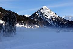 Nebelschwaden und Sonne