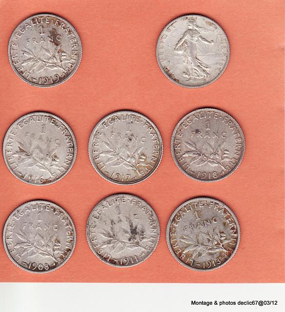 Pièces de 1 franc