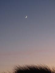 Mond mit Venus