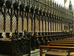 PICT16507ac Amiens Cathedral Notre Dame Chapter North Wooden Stalls