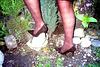 Lady Roxy  /  Jardiner en talons hauts /  Gardening in high heels