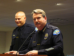 Officer Greg Blum and Chief Pat Williams (1844)