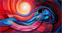 """""""Surrender to Flow """" by  Freydoon Rassouli"""