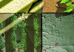 Mondrian texturizado en verde