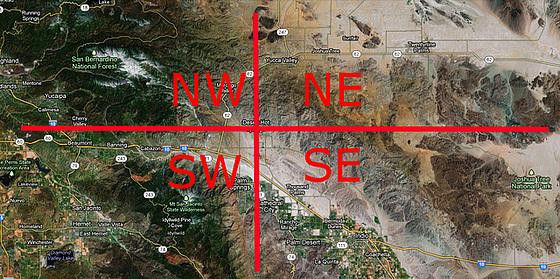 Northwest Northeast Southwest Southeast