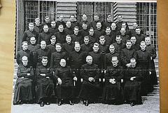 Vor der Priesterweihe 1958 in Paderborn