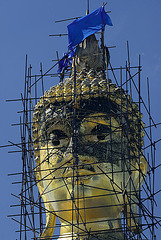 Buddha in renovation