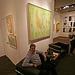 Palm Springs Fine Art Fair - Andy tests a modern chair (2864)