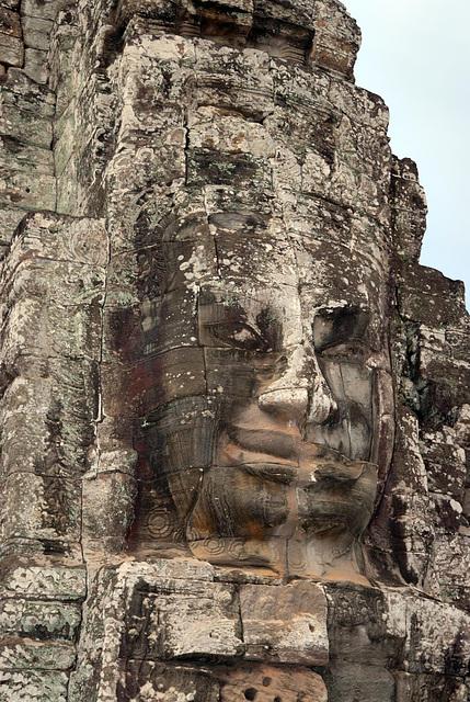 One of the 216 gigantic Bodhisattva faces