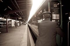Le départ du train