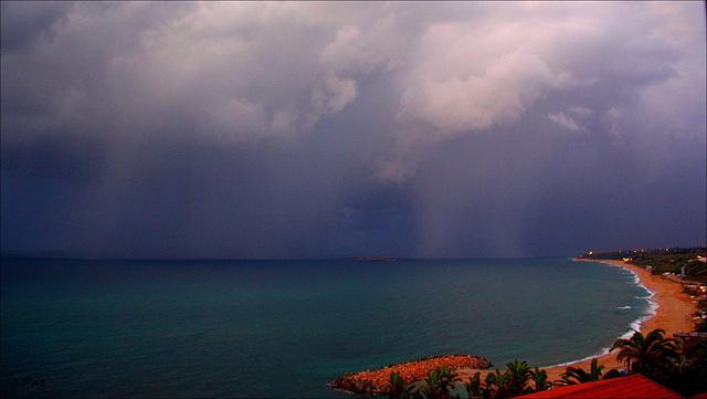 Sky of thunderstorm